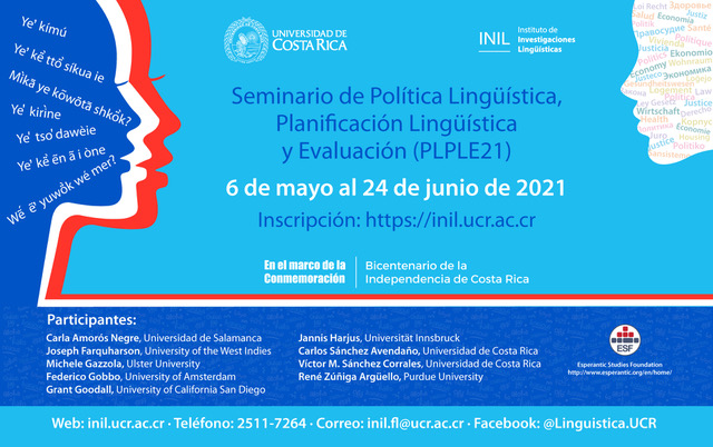 PLPLE21: Workshop on Language Policy, Language Planning and Assessment in Mesoamerica and the Caribbean: Realities and Requirements